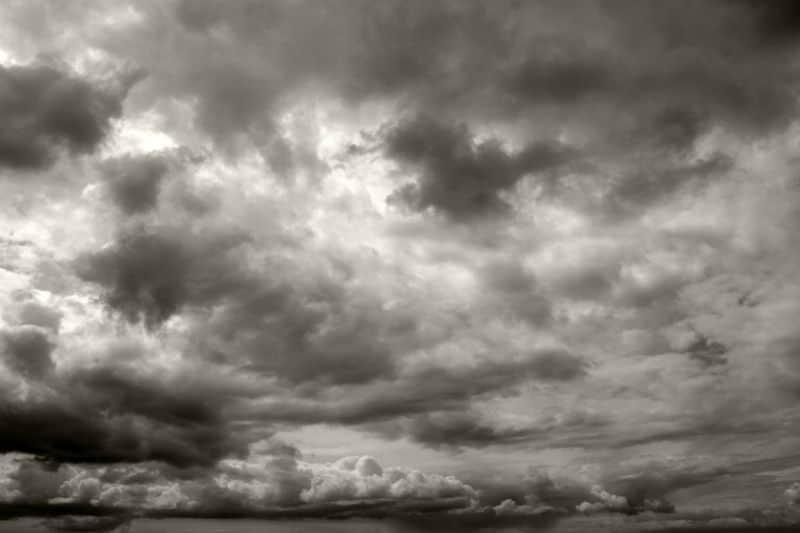 dark gray sky