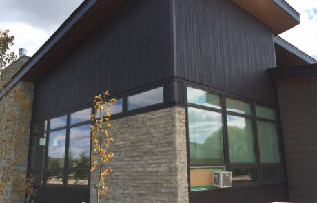 kwp provincial vertical siding in commercial brown