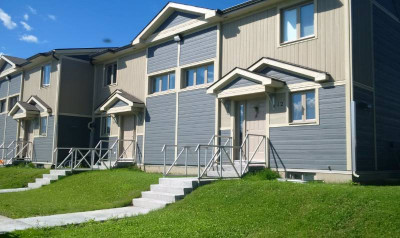 Provincial vertical lap siding in Coffee brown