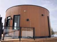 KWP Stratford as Vertical siding - Cedar Rustic